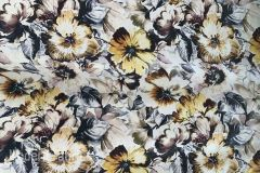 Carnegie Flora: Yellow | Large Scale Floral Upholstery & Pillow Fabric