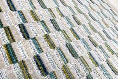 Clarke Clarke Cubis : Peacock| Cut Velvet Upholstery & Pillow Fabric