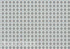 HBF Textiles Dot Grid: Silver & Aqua