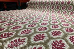 Stroheim Piedmont Leaf : Loganberry   Upholstery & Pillow Fabric