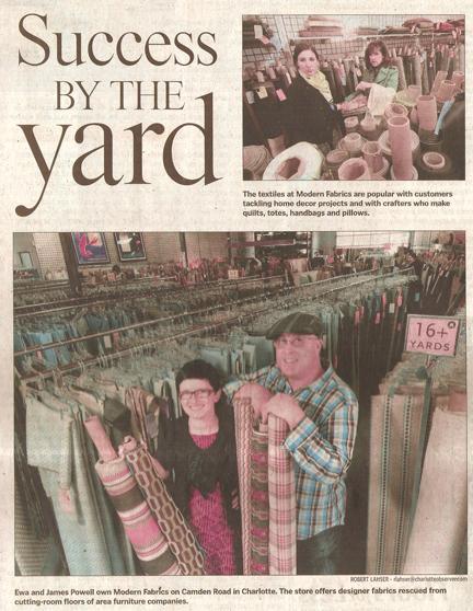 Modern Fabrics in Charlotte Observer