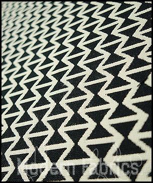 Maharam Double Triangles 459840 001 : Black White by Alexander Girard, 1952