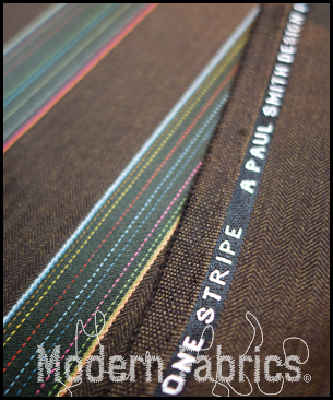 Maharam Herringbone Stripe by Paul Smith 465945 002 : Espresso