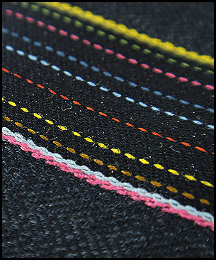 Maharam Herringbone Stripe by Paul Smith Graphite