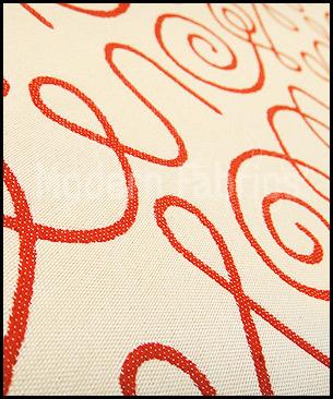 Maharam Names Crimson on White