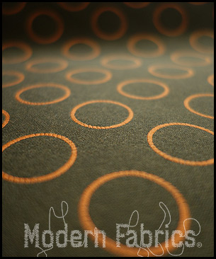 Maharam Repeat Dot Ring 462150 008 : Sienna Reverse (BROWN ONLY)