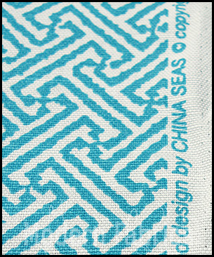 China Seas / Quadrille Java Java 4010 24 : Peacock on White