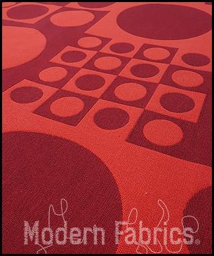 Maharam Geometri 459970 002 : Red/Carmine by Verner Panton, 1960
