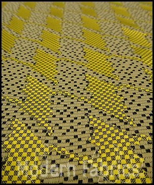 Maharam Repeat Classic Houndstooth 462180 001 : Lemon by Hella Jongerius