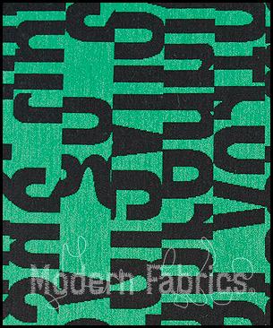 Maharam Letters 462560 007 : Emerald by Gunnar Aagaard Andersen, 1955